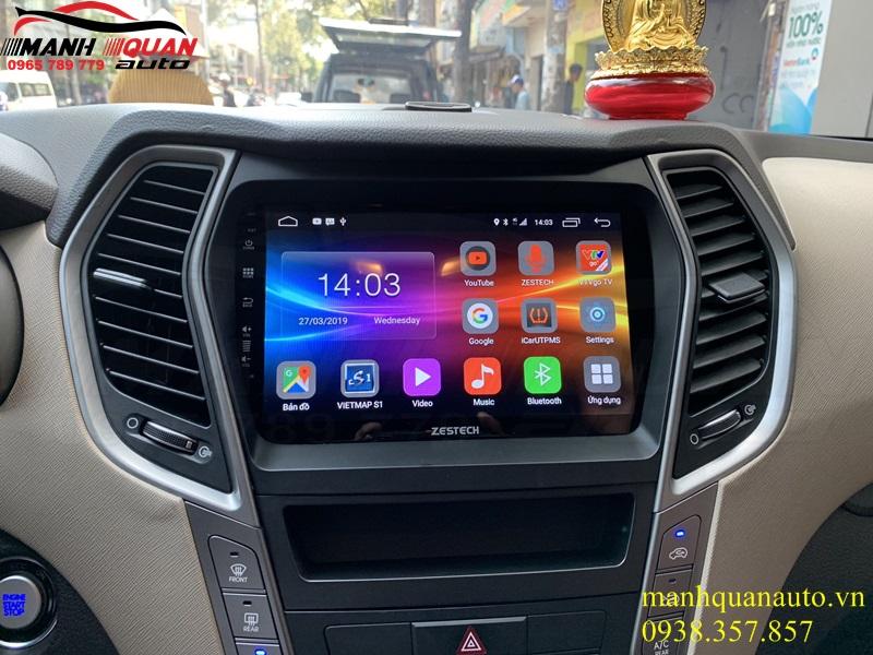 Báo Giá Đầu Android Zestech Z500 Cho Xe Huyndai Santafe 2013-2018