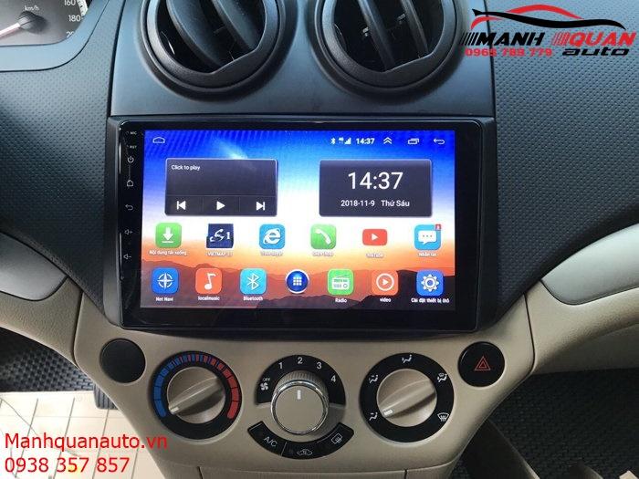 Báo Giá Màn Hình DVD Android Xe Chevrolet Aveo   Mạnh Quân