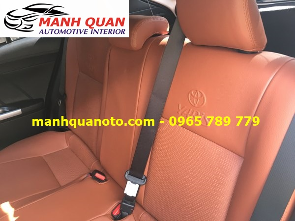 Bọc Ghế Da Xe Toyota Yaris 2017   Đổi Màu Nội Thất Ô Tô