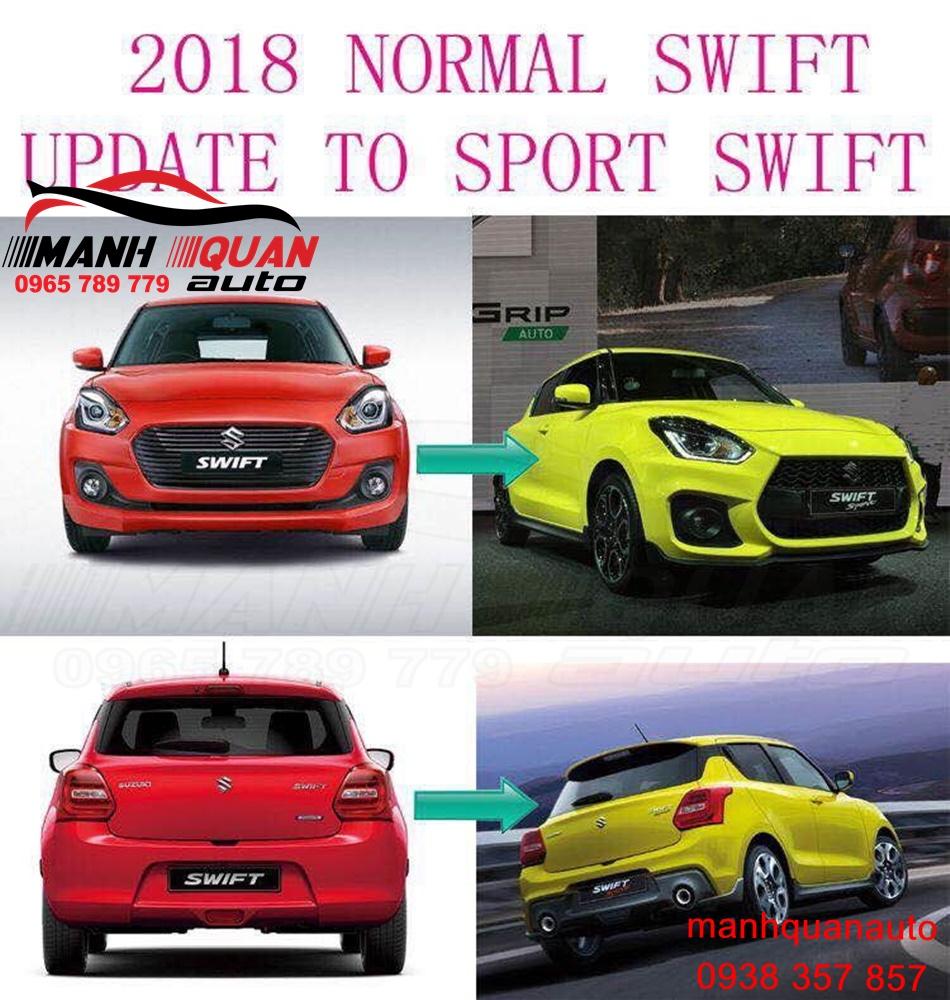 Body Kit Sport Cho Suzuki Swift 2018- Nâng cấp Lên Bản Sport Tạo Sự Khác Biệt