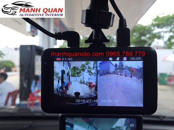 Camera Hành Trình Vicom DVR 820 Ghi Hình Trước Và Sau Xe Peugoet 508