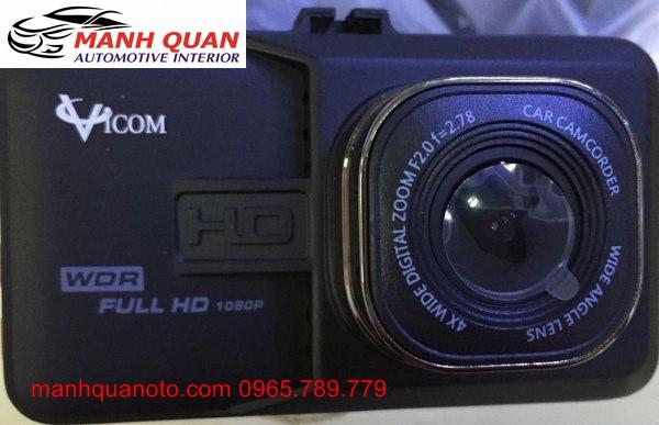 Camera Hành Trình Vicom DVR 820 Ghi Hình Trước Và Sau Xe Sabaru WRX STi