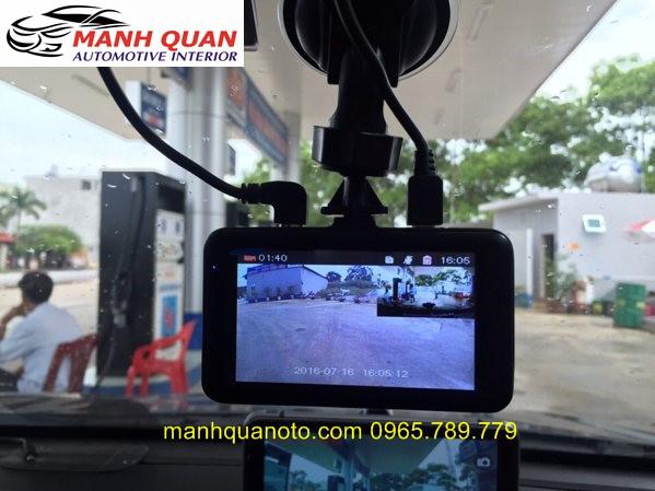 Camera Hành Trình Vicom DVR 820 Ghi Hình Trước Và Sau Xe Subaru XV