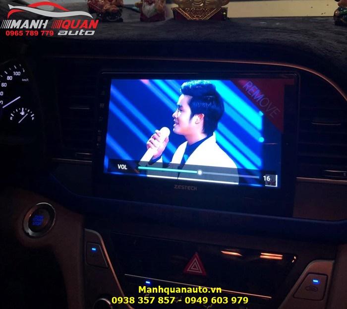 Đầu DVD Android Zestech 4G - Đồ Chơi Xe Ô Tô Cho Hyundai Elantra 2018