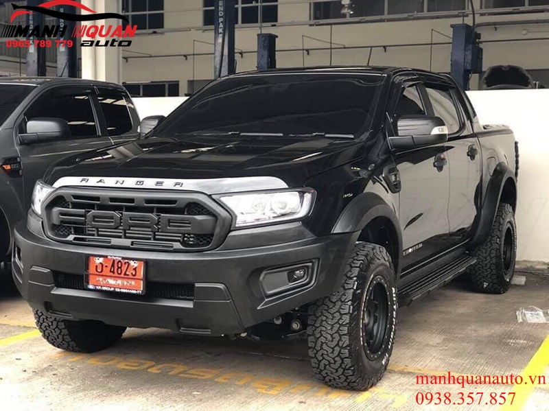 Độ Bodykit Mẫu Raptor Cho Ford Ranger