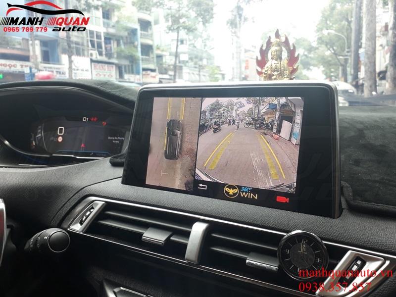 Độ Camera 360 độ Owin Mắt Sony Trên Màn Hình Zin Peugeot 5008 – Hình Ảnh Cực Nét