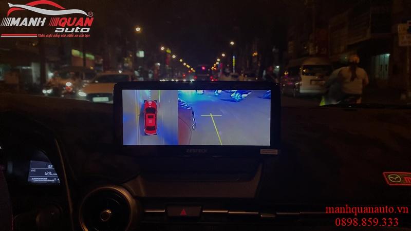 Độ màn hình Zestech liền camera 360 cho dòng xe Mazda