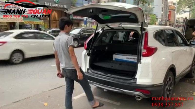 Độ Ti Cốp Điện Và Cảm Biến Đá Chân Cho Honda CRV
