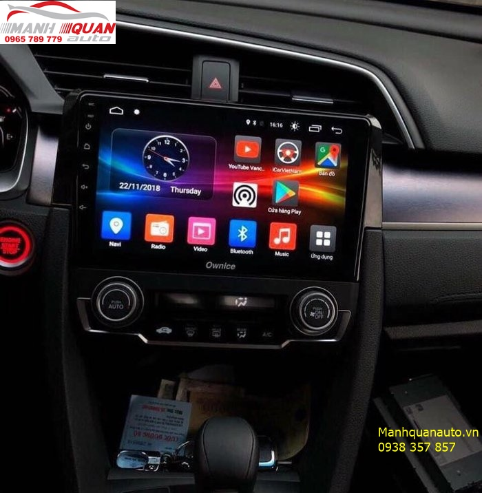DVD Android Owince C500+ Cho Honda Civic 2018| 0965789779