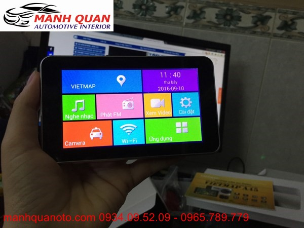 Gắn Camera Hành Trình VietMap A45 Ghi Hình Trước Sau Cho Isuzu D-Max