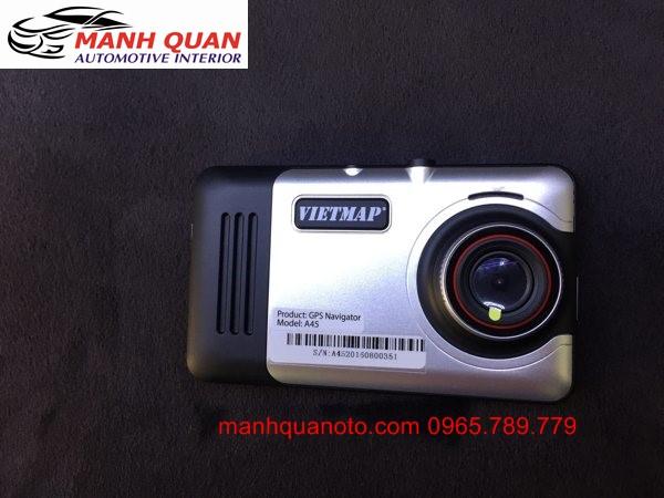 Gắn Camera Hành Trình VietMap A45 Ghi Hình Trước Sau Cho Nissan Navara