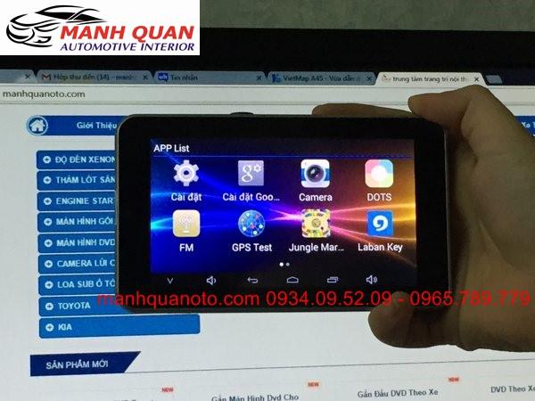 Gắn Camera Hành Trình VietMap A45 Ghi Hình Trước Sau Cho Nissan Teana