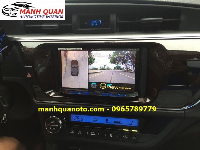 Lắp Camera 360 Độ Cho Mitsubishi Outlander   Camera 360 Oview Hàn Quốc