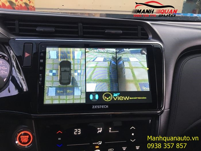 Lắp Camera 360 Oview Chính Hãng Giá Rẻ Cho Honda City Tại Mạnh Quân Auto
