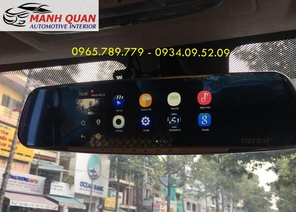 Lắp Camera Hành Trình Gương VietMap G68 Cho Toyota Hiace