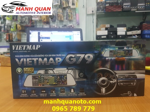 Lắp Camera Hành Trình VietMap G79 Cho Toyota Altis | 0965789779