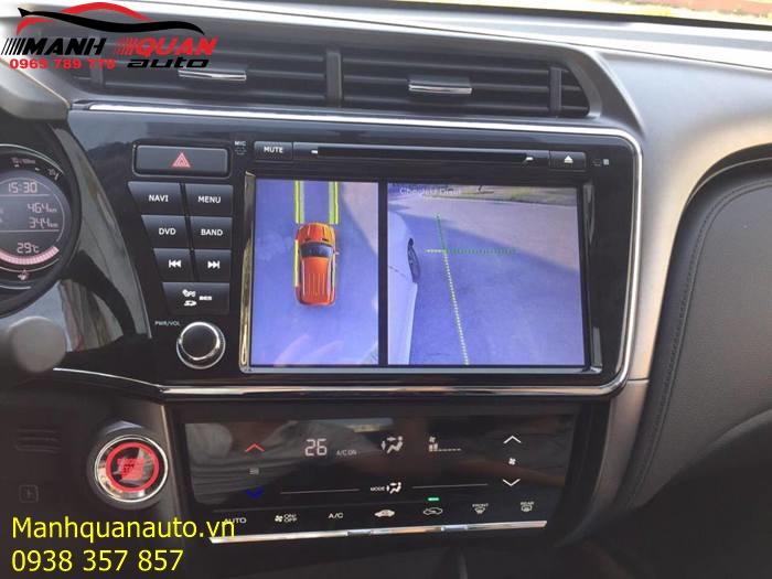 Lắp Đặt Camera Quan Sát Giá Rẻ Cho Honda City - Mạnh Quân Auto