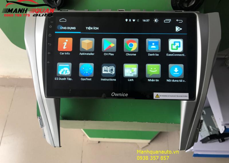 Lắp Đặt Đầu DVD Ownice C500+ Cho Toyota Camry 0965789779