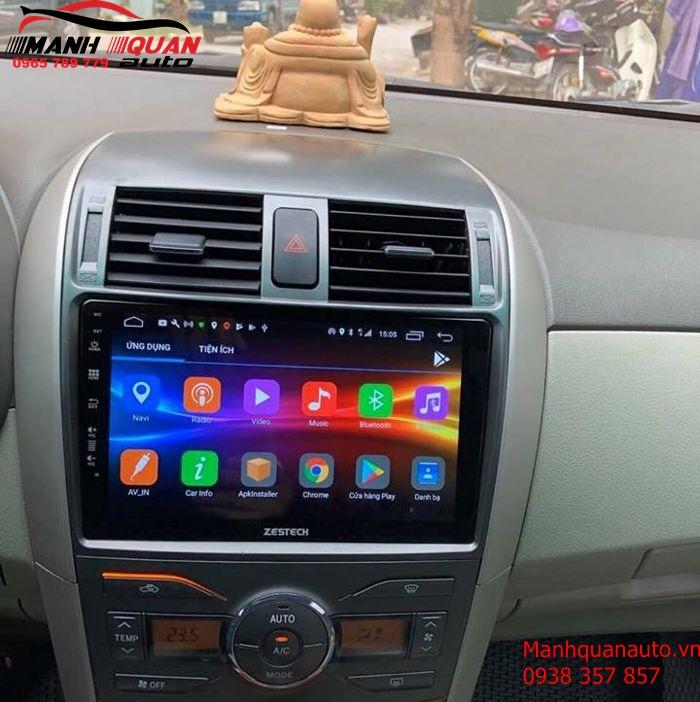 Lắp Đặt Màn Hình Android Zestech Cho Toyota Altis 2009 Tại Bình Dương