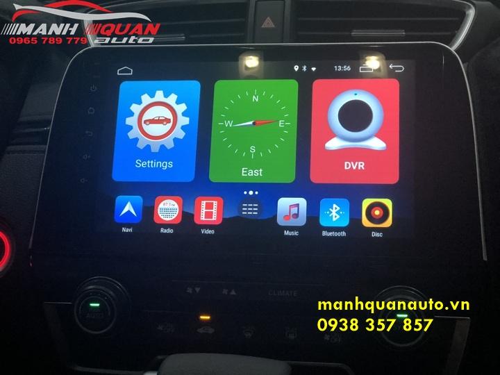 Lắp Đặt Màn Hình DVD Android Cao Cấp Uy Tín Cho Honda CRV | 0965789779