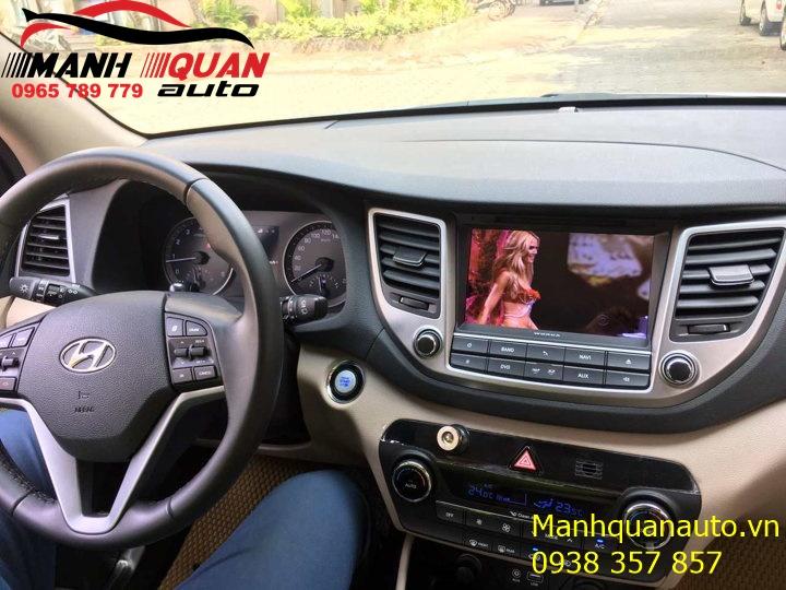 Lắp Đặt Màn Hình DVD Android Chính Hãng Uy Tín Cho Hyundai Tucson   0965789779