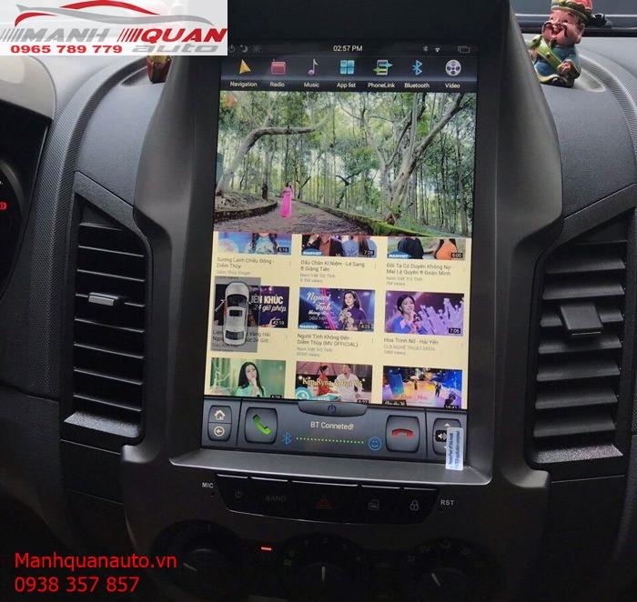 Lắp Màn Hình Android Tesla Cho Ford Ranger XLS Với Giá Tốt Nhất