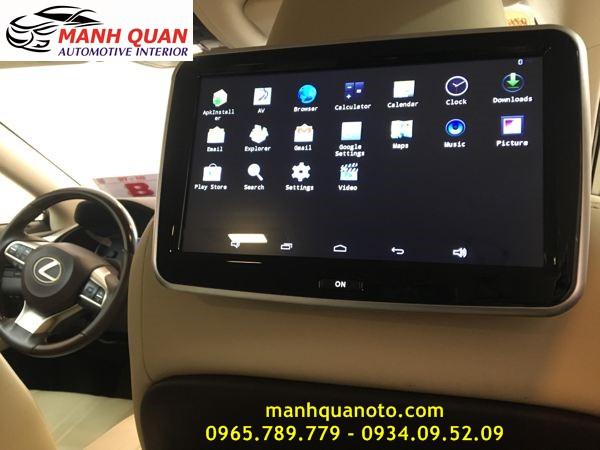 Lắp Màn Hình Gối Tựa Đầu Android Cho Xe Toyota Prado Tại Tp hcm