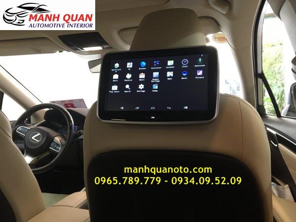 Lắp Màn Hình Gối Tựa Đầu Android Cho Xe Toyota Sienna Tại Tp hcm