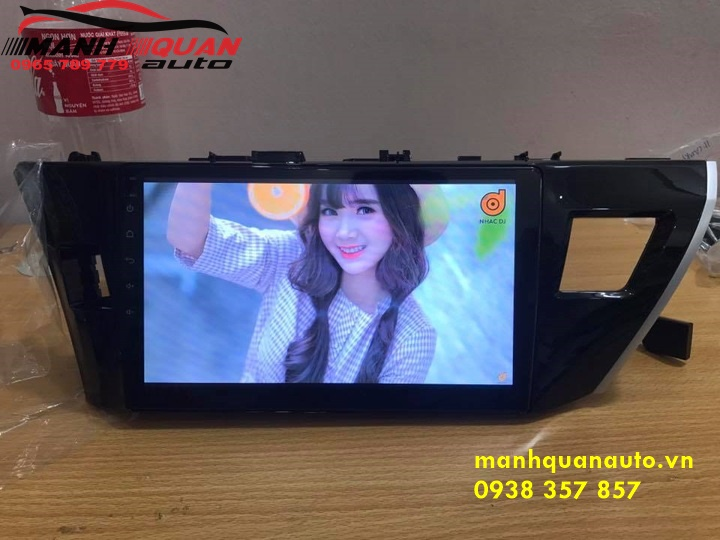 Màn Hình Android Mới Nhất Cho Toyota Altis Cắm Jack Zin | 0938357857
