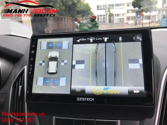 Combo DVD Android Zestech + Camera 360 Độ Oview Cho Hyundai Tucson
