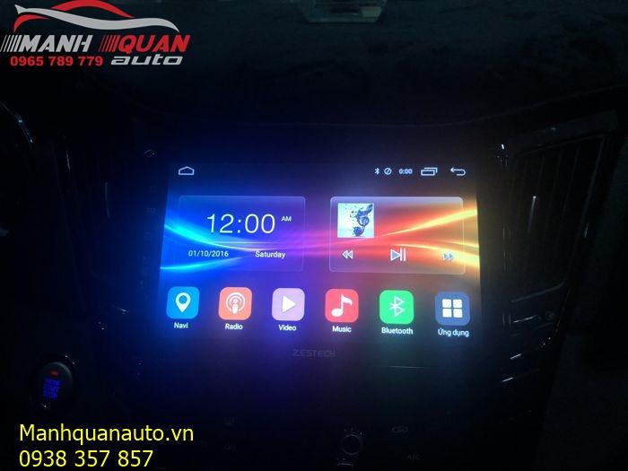 Màn Hình Android Zestech Công Nghệ Mới Cho Hyundai Sonata   Mạnh Quân