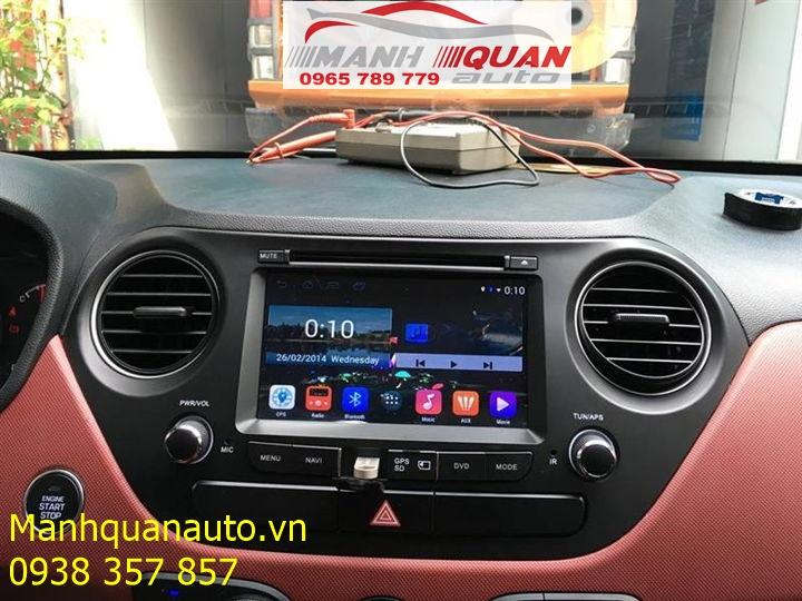 Màn Hình DVD Android 7.1 Cao Cấp Giá Rẻ Cho Hyundai Grand i10   0965789779