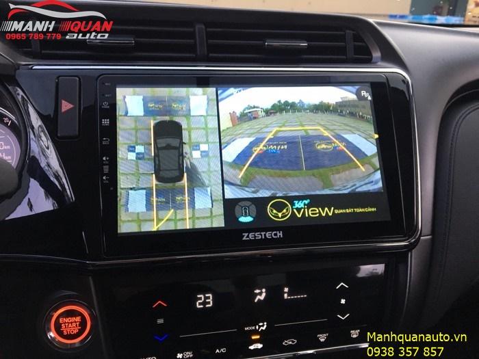 Màn Hình DVD Zestech Tích Hợp Camera 360 Độ Oview - Honda Civic
