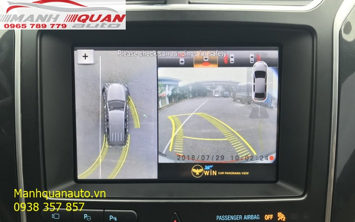 Phân Phối Và Lắp Đặt Camera 360 Độ Cho Xe Ford Explorer | 0965789779
