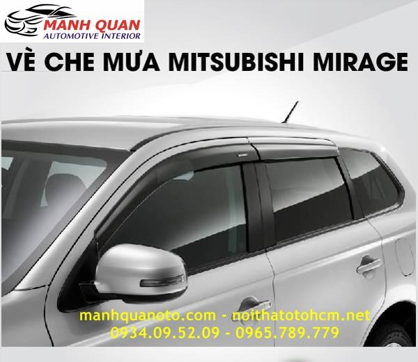 Vè Che Mưa Cho Xe Mitsubishi Mirage